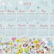 Decorative Calendar for 2013 — Stock Vector