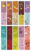 Marcadores florais ou banners — Vetorial Stock