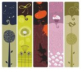 Various Bookmarks or Banners — Stockvektor
