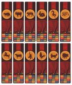 Chinese Zodiac Bookmarks or Banners Set — Stock Vector