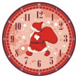 Christmas Clock Face — Stok Vektör