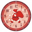 Stock Vector: Christmas Clock Face