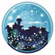 Winter Snow Globe — Stock Vector
