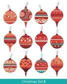 Vánoční koule set — Stock vektor