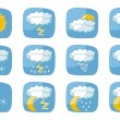 Weather Icons — Vettoriale Stock #13854276