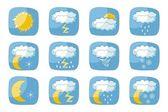 Hava durumu simgeleri — Stok Vektör
