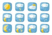 Weather Icons — Vettoriale Stock