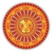 Decorative Summer Mandala — Stock Vector