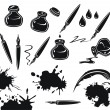 Ink Set — Stock Vector