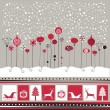 Decorative Winter Background — Stock Vector
