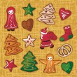 Christmas Gingerbread Cookies Set — Stock Vector #14420145