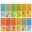 2013 Calendar Set — Stock Vector #15632867