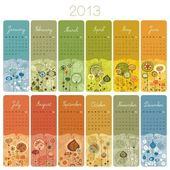 2013 Calendar Set — Stock Vector