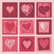 Royalty-Free Stock Vector Image: Valentine Hearts Set