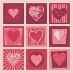 Valentine Hearts Set — Stock Vector #16201757