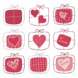 Stock Vector: Valentine Gifts Set