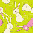 Seamless Easter Rabbit Pattern — Stock Vector