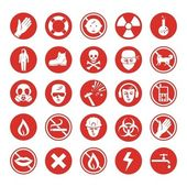 Work protection various icons — Stock Vector