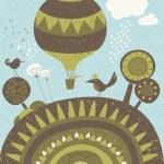 Balloon spring promenade — Stock Vector #24742379