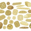 Royalty-Free Stock Vector Image: Various Breads Set