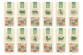 Chinese Zodiac Set — Stock Vector