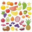 Stock Vector: Fruits Set