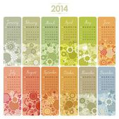 Calendario 2014 insieme — Vettoriale Stock