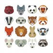 Animal Heads Set — Stock Vector #30975761