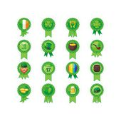 Saint Patrick Day Badges Set — Stock Vector
