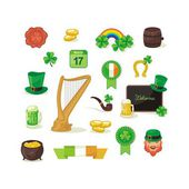 Saint Patrick Day Set — Stock Vector