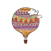 Decorated Balloon — Stock vektor