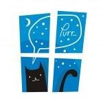 Purring Cat — Stock Vector #49525555