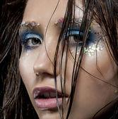 Moda model güzellik kız - sexy taze yüz — Stok fotoğraf