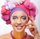 Geluk. vrolijke mooie sexy meisje lachen — Stockfoto