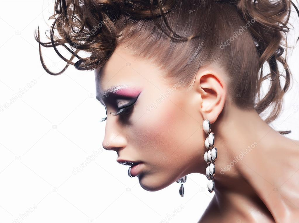 Beauty Fashion Style Sexy Girl Curly Luxury Coiffure Stock Photo Gromovataya 12666039