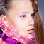 Natural beauty - fashion woman face, bright make up — Stock Photo #12747798