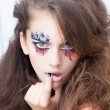Fashion style creative photo of young fashion lady - mime — Stock fotografie #13142039