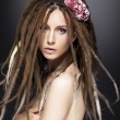 Stock Photo: Creative fashion wommod, dreads - beauty glamour hairstyle