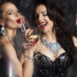 Stock Photo: Glamour. Elated WomCelebrating New Year or Birthday