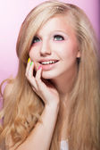 Purity and Virginity - Fresh Young Teen Girl Face. Adolescence — Stock Photo