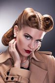 Vintage Style - Aristocratic Woman with Retro Hairstyle — Foto de Stock