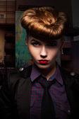 Fantasy. Trendy and Classy Girl Portrait. Glamour — Stock Photo