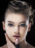 Magnetism. Sensual Charismatic Young Woman looking. Daze — Stock Photo