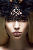 Romance. Close up Portrait of charming Woman. Victorian Style. Fantasy — Stock Photo