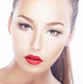 Charm. Closeup Portrait of Nifty Refined Woman. Freshness & Sensuality — Stock Photo