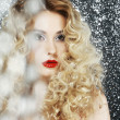 Brilliance. Glamor. Face of Beauty Womin Blurs — Stock Photo #25492777