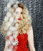 Allure. Glossy Stylish Woman - Glitter. Magnetism — Stock Photo