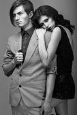 Tenderness & Fondness. Beautiful Couple Embracing. Devotion — Stock Photo