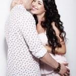 Erotism. Libidinous Flirty Couple Gently Embracing Together — Stock Photo #31368993