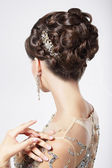 Refinement and Sophistication. Stylish Woman with Festive Coiffure — Stock Photo